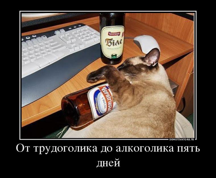 от трудоголика до алкоголика