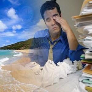 трудоголик мечтает о море