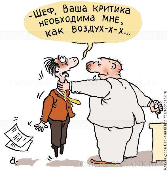 Шеф  критикует