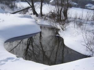 Калюжа взимку