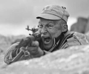 боец стреляет  Афган